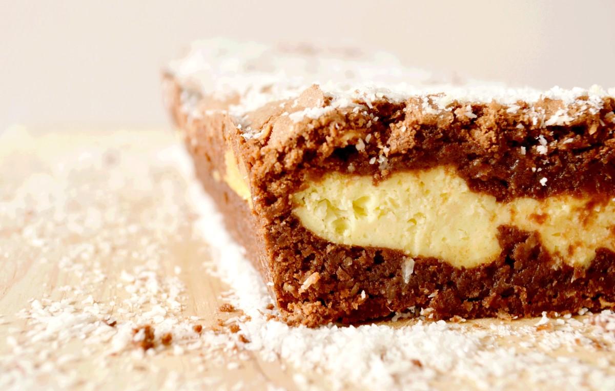 Cake mi-Fondant/mi-Cheesecake - Chocolat & Coco
