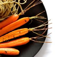 Carottes rôties - Sirop d'érable, épices & menthe