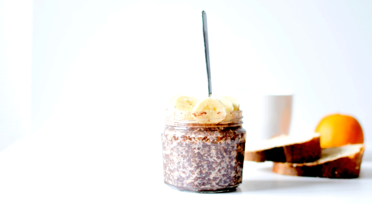 Overnight porridge - Flocons d'avoine, Graines de chia & Chocolat