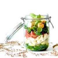 Salade croquante - Feta, Concombre & Pamplemousse