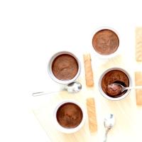Mousse au chocolat - à l'eau de cuisson de haricots rouges
