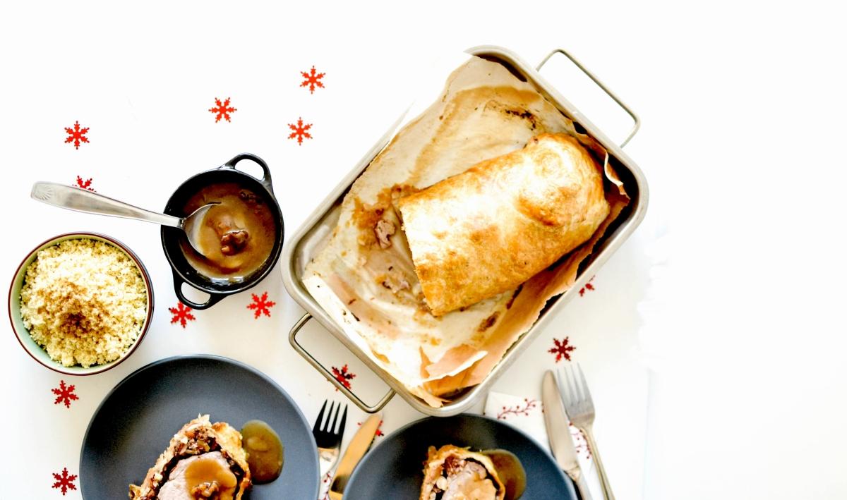 Filet mignon en croûte - Fruits Secs, Miel & Bière de Noël