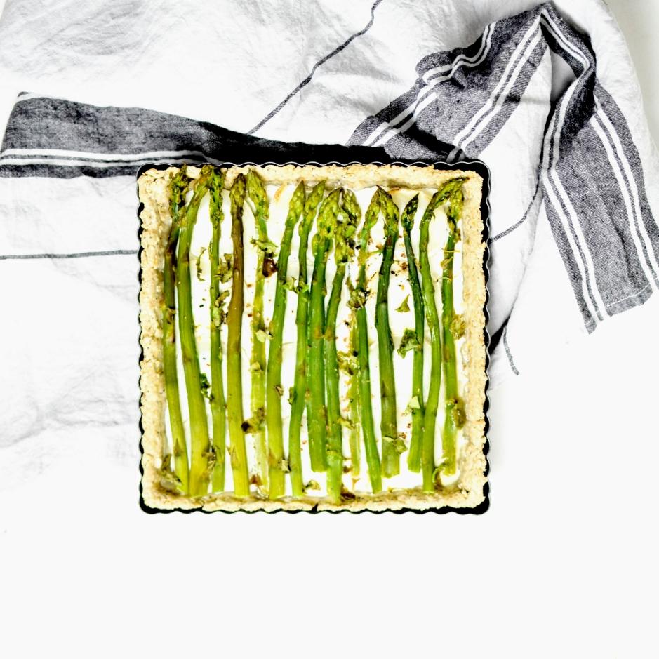 tarte asperges chèvre basilic 2
