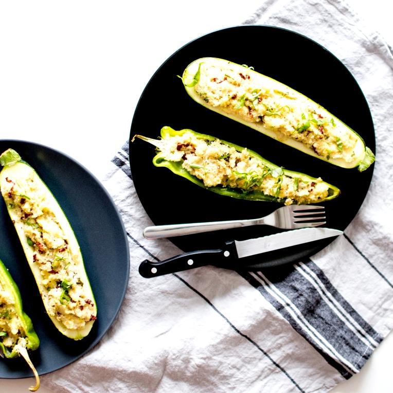 courgettes et poivrons farcis 6
