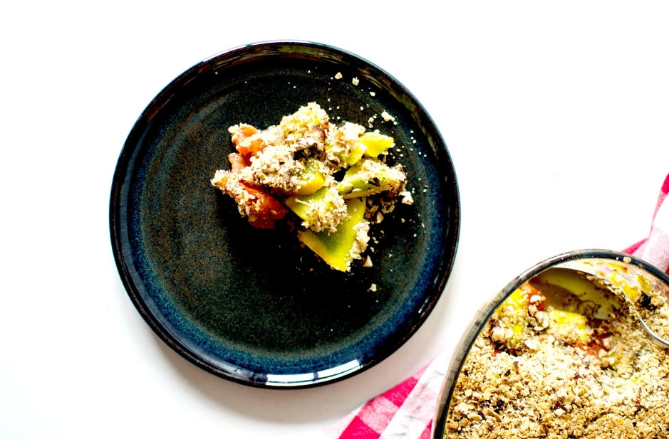 crumble courgettes tomates noisettes 2