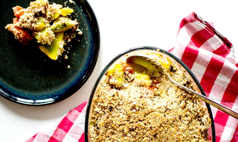 crumble courgettes tomates noisettes 3