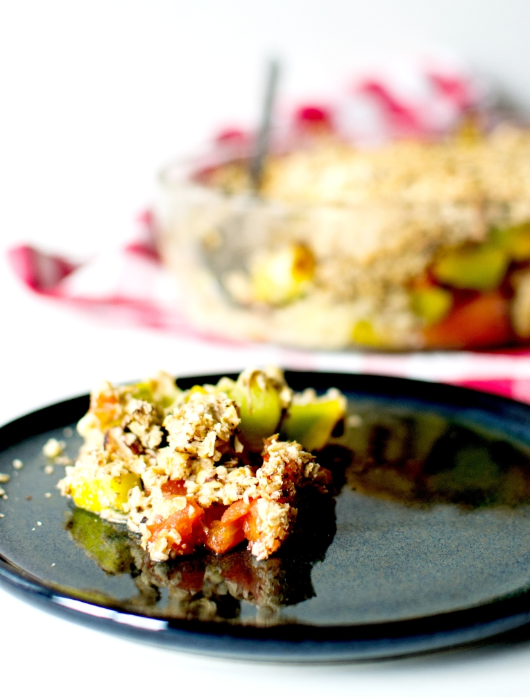 crumble courgettes tomates noisettes 5