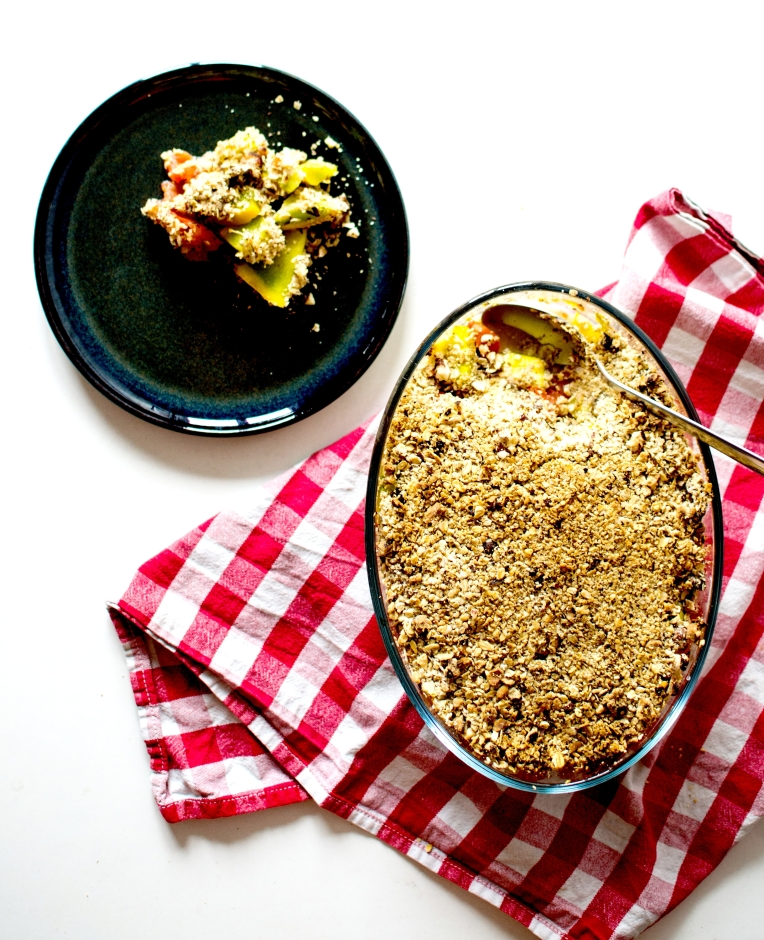 crumble courgettes tomates noisettes 6
