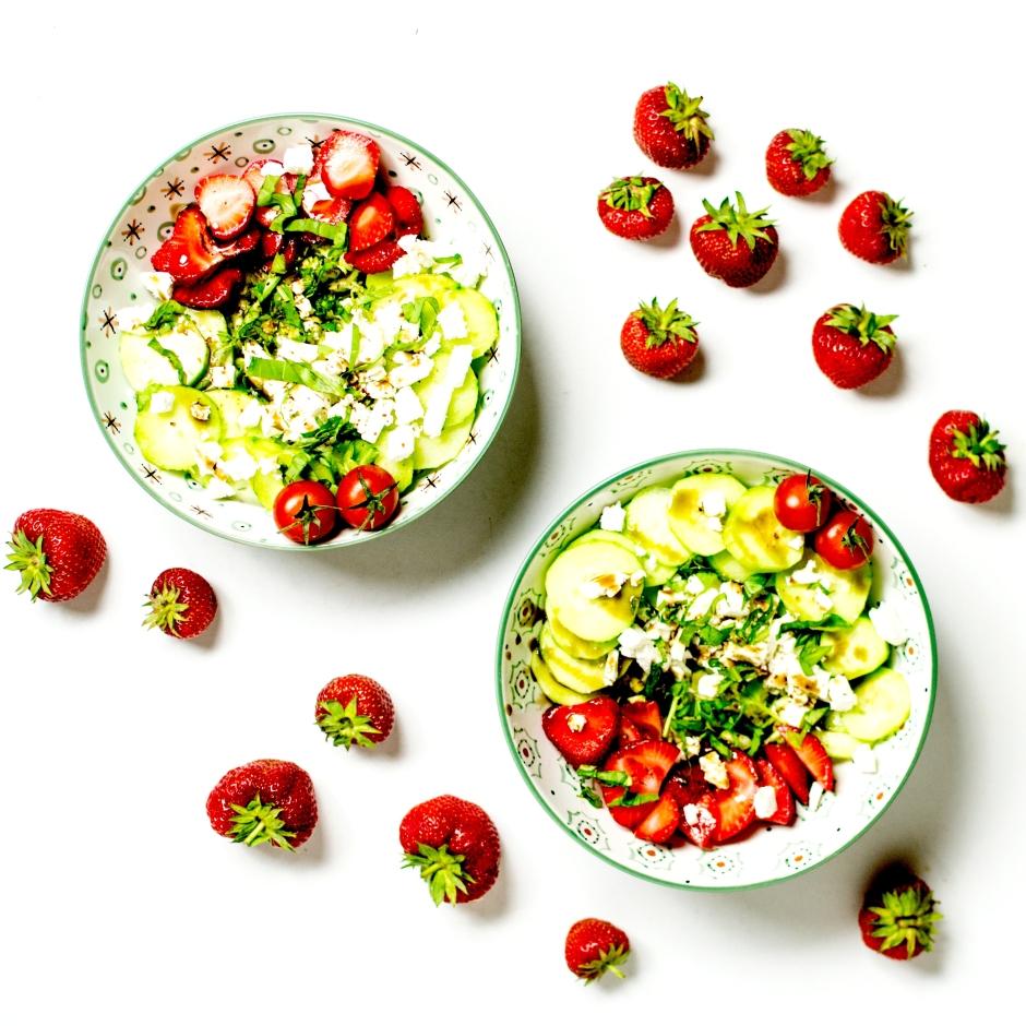 salade grecque aux fraises 3