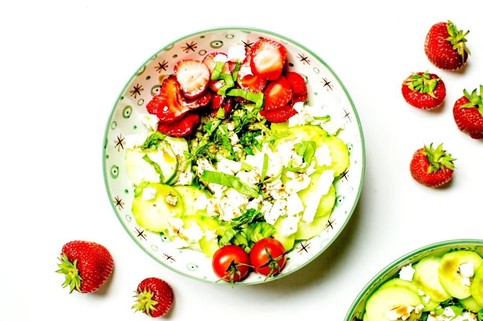 salade grecque aux fraises 4