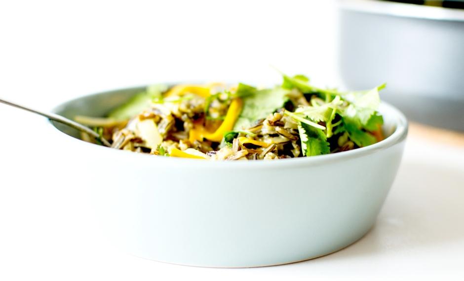 wok riz sauvage lait de coco 4