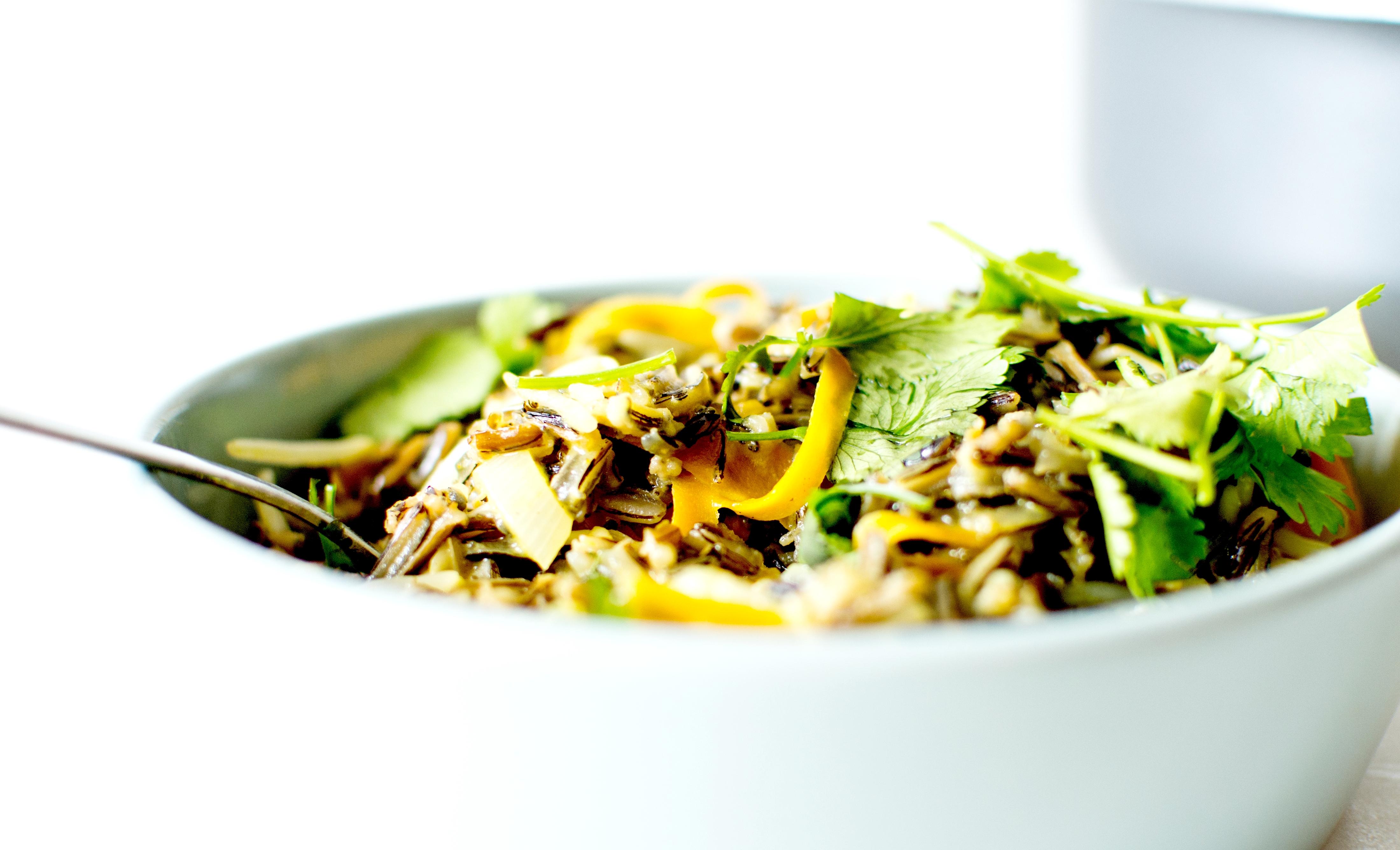 wok riz sauvage lait de coco 5