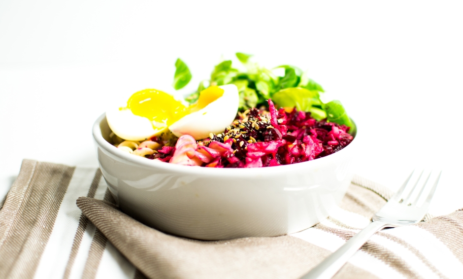 salade tiède fusilli betterave pommes oeuf 6
