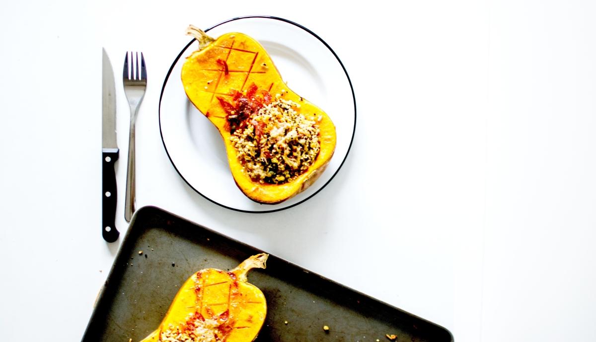 Butternut farci - Riz, graines & Chorizo