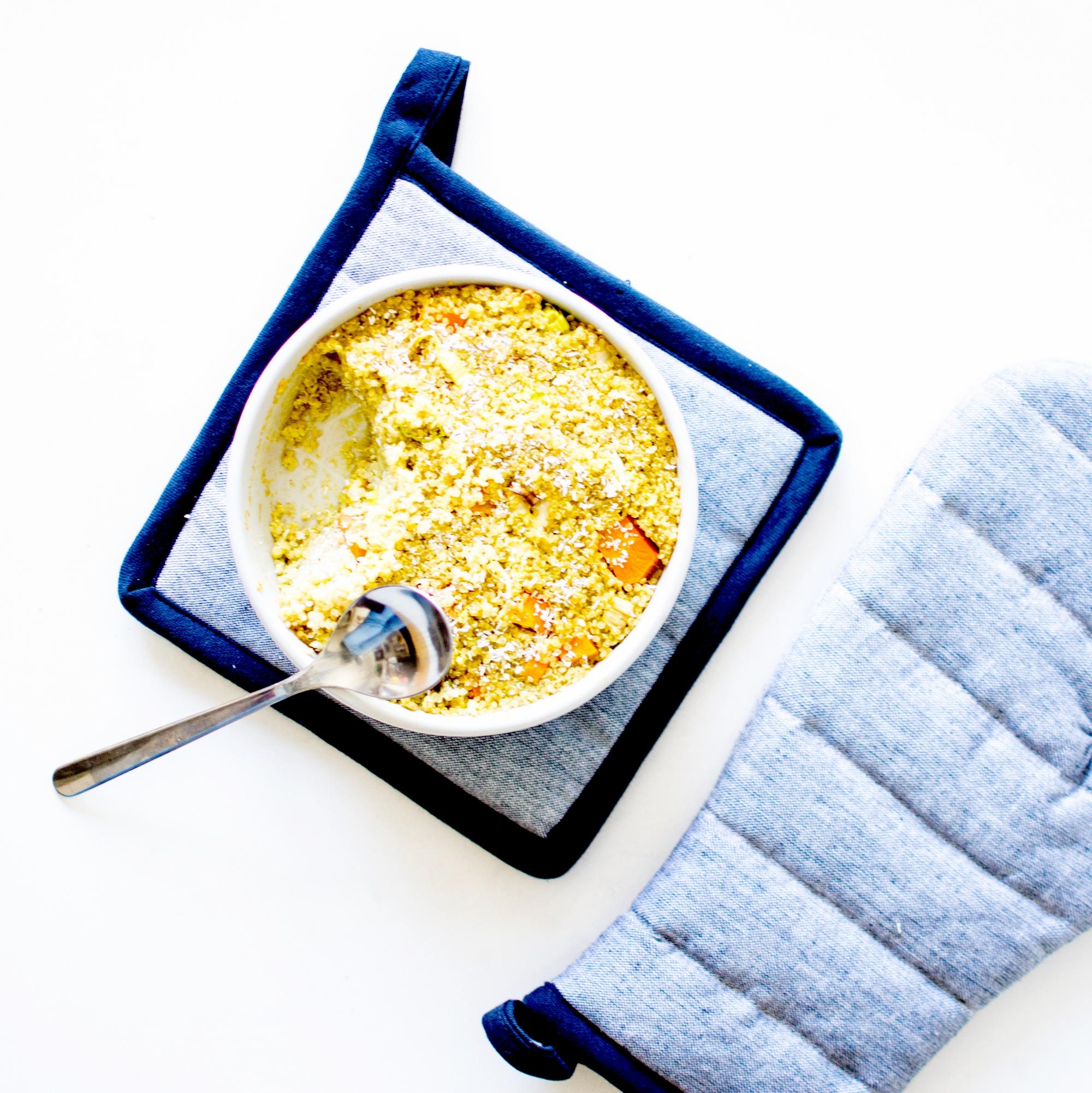clafoutis de quinoa lait de coco 4