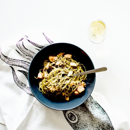 spaghetti au saumon feta et tomates séchées 2