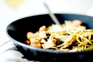 spaghetti au saumon feta et tomates séchées 5