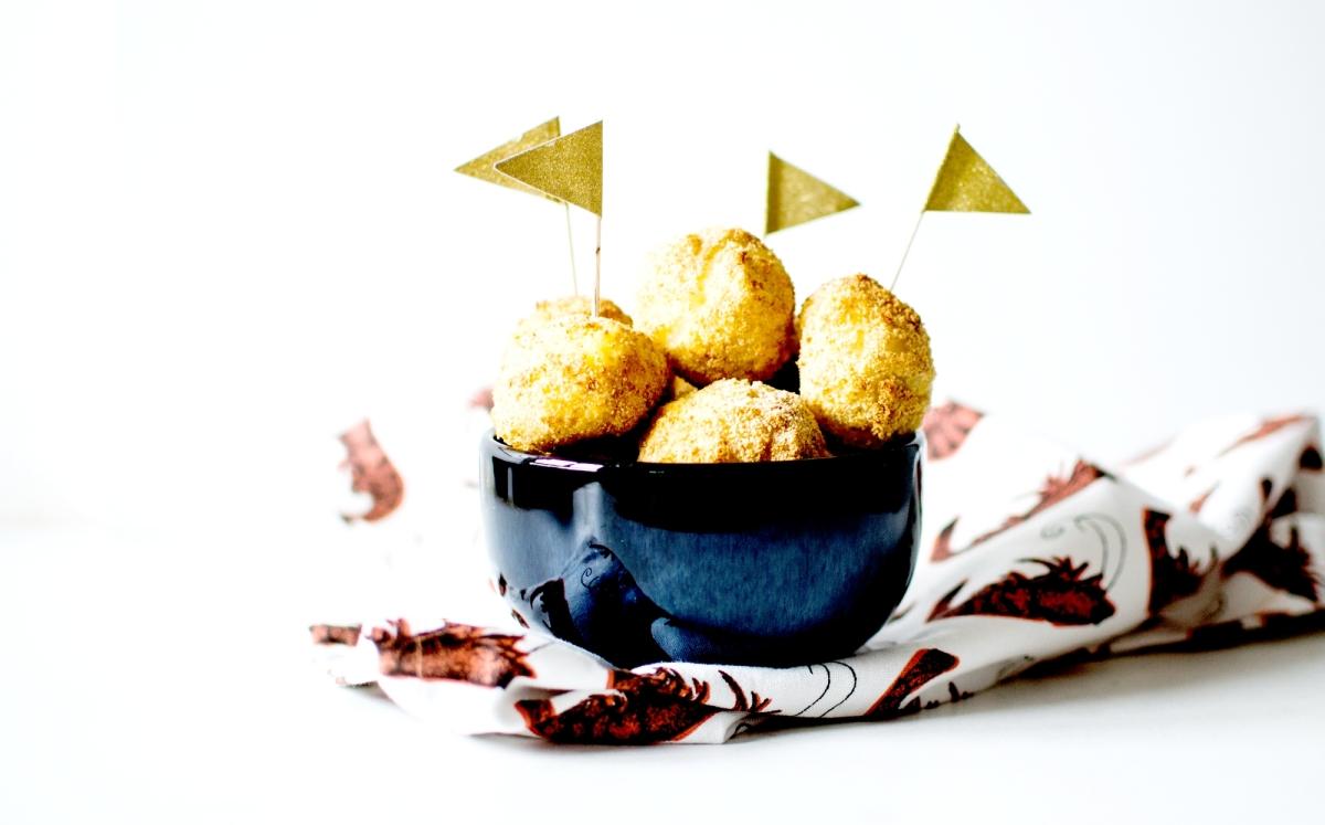 Cheesy Rice balls - [Croquettes de riz au fromage] - Au Four