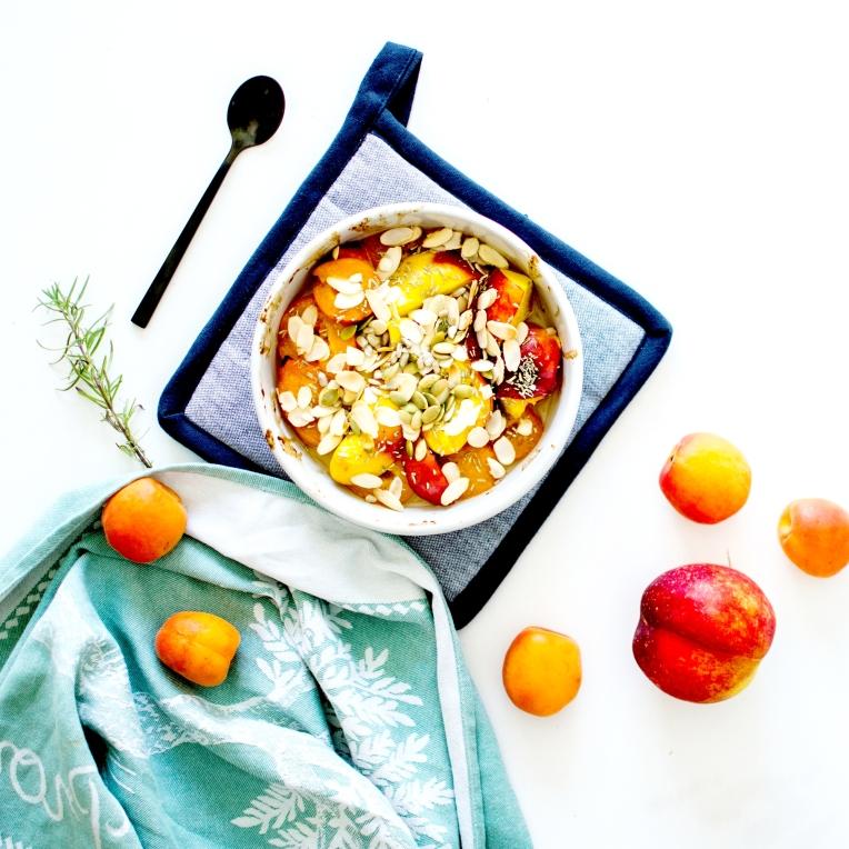 abricots et nectarines rôtis romarin 2