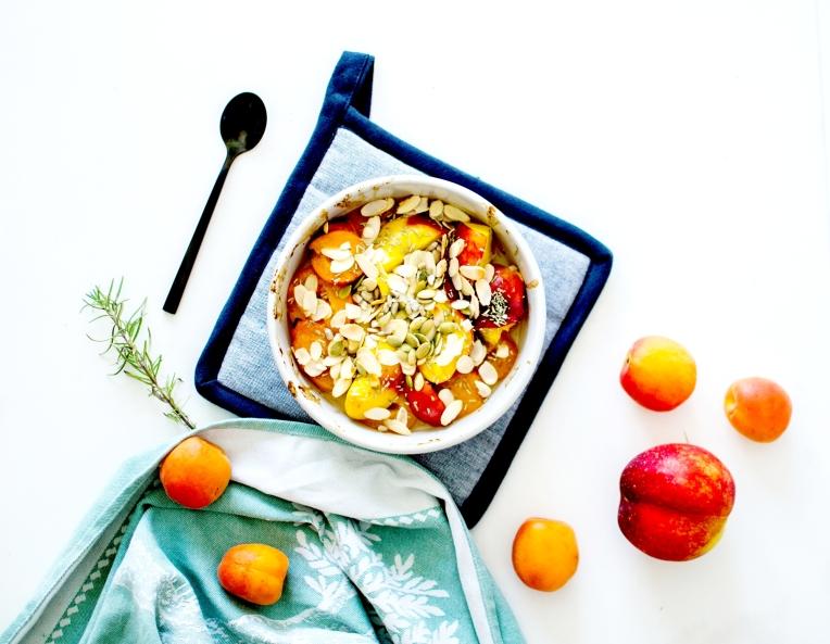abricots et nectarines rôtis romarin 4