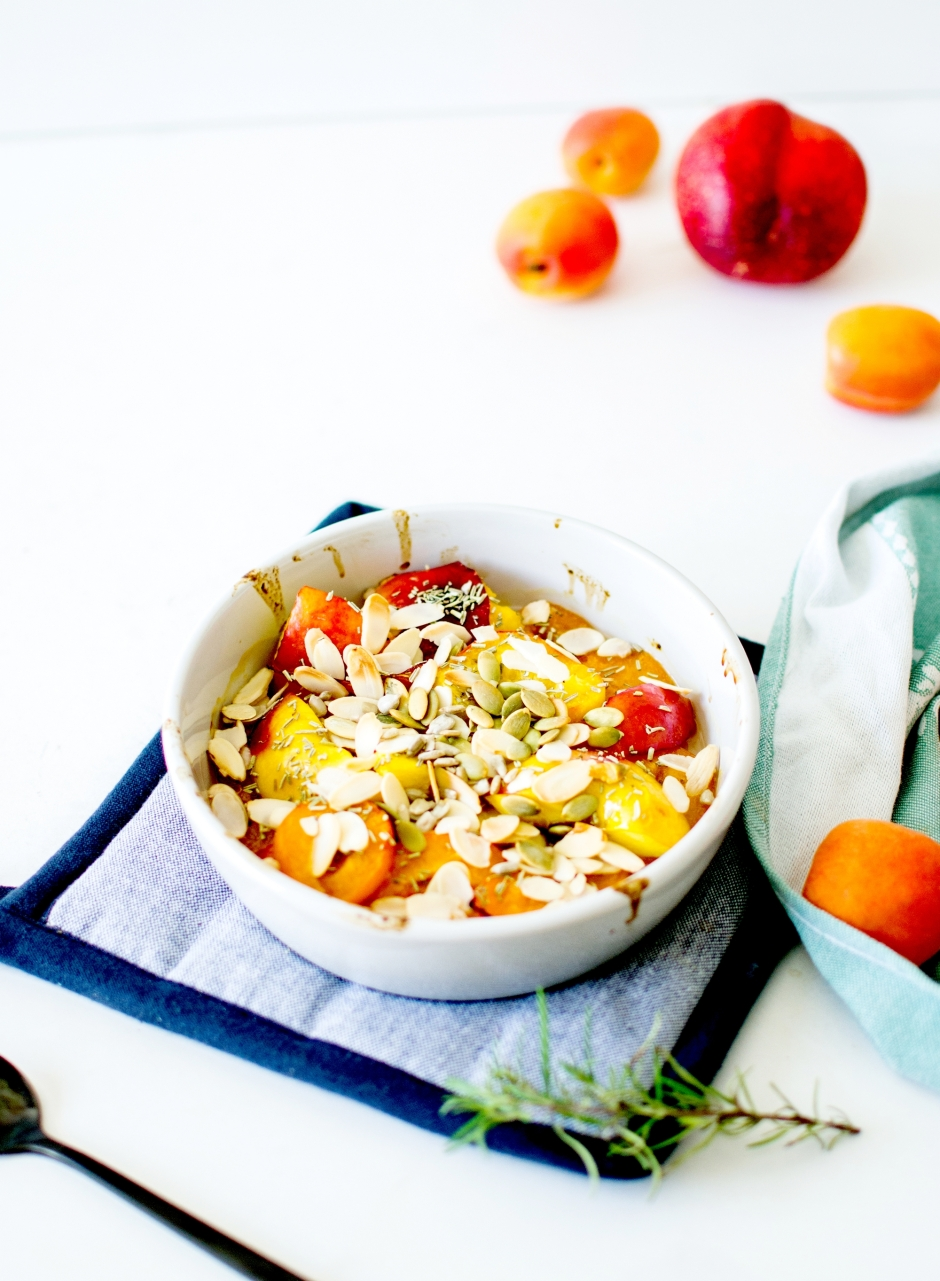 abricots et nectarines rôtis romarin 7
