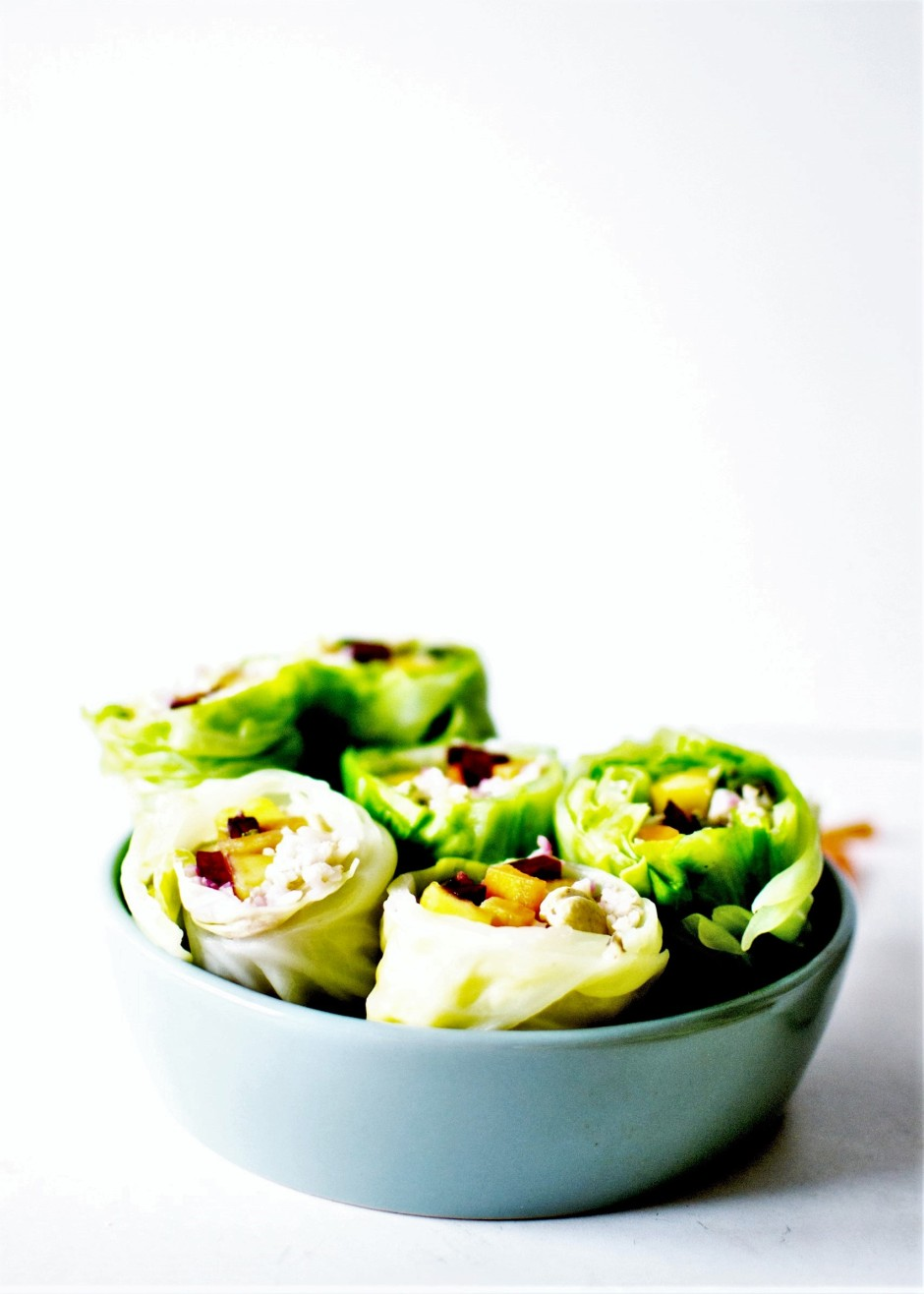 rainbow vegan spring rolls 1