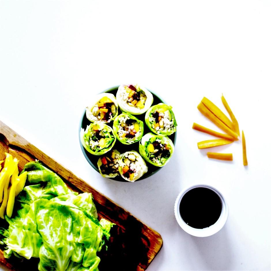 rainbow vegan spring rolls 4