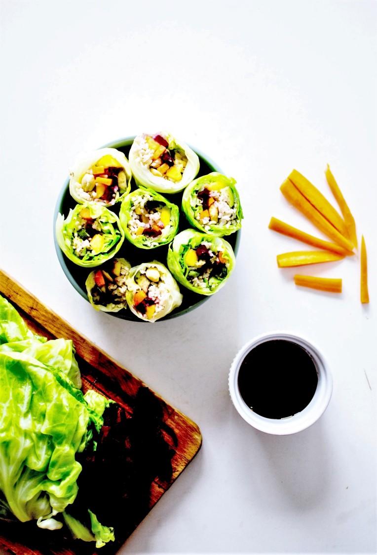 rainbow vegan spring rolls 5