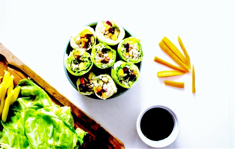 rainbow vegan spring rolls 6