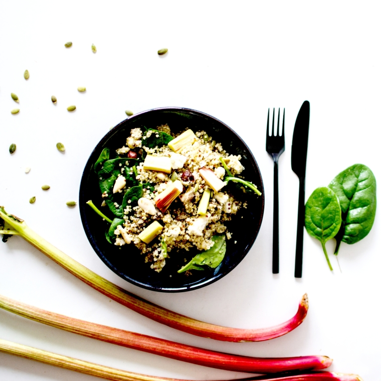 salade quinoa rhubarbe 2
