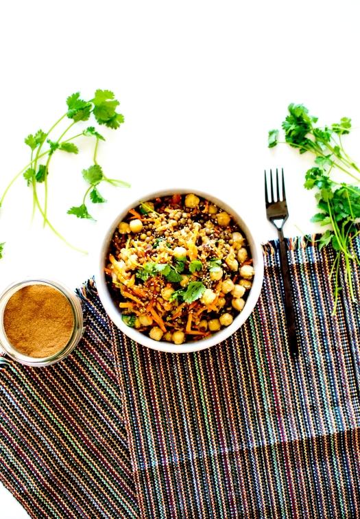 salade orientale lentilles 3