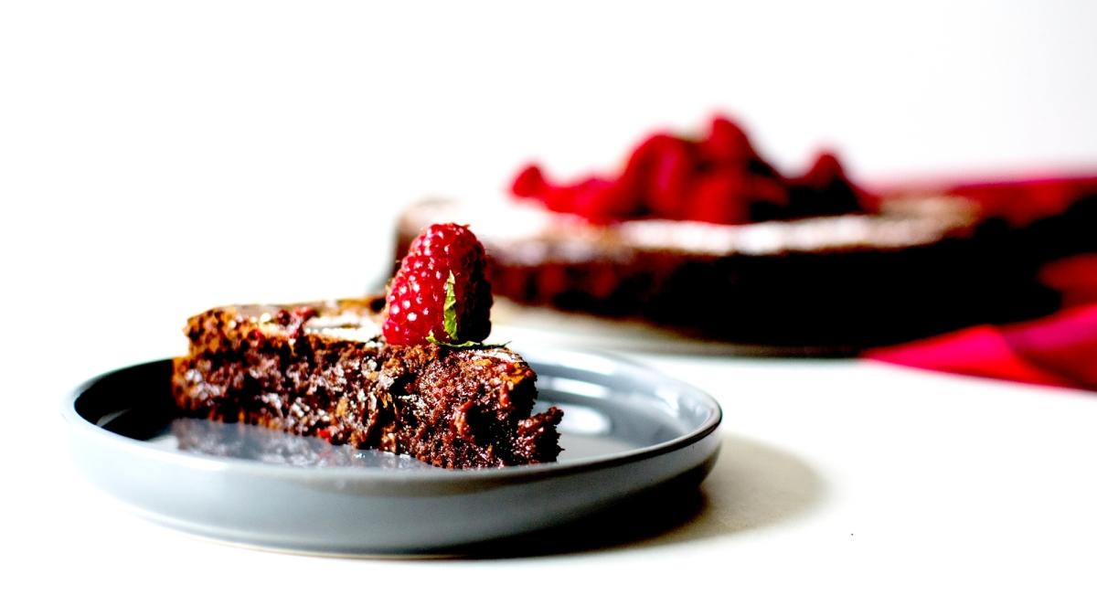 Fondant au chocolat & aux framboises - sans gluten