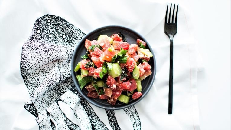 Salade tartare pastèque (2)