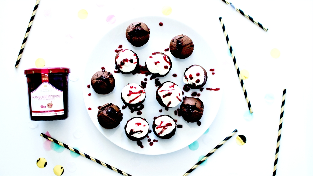 Bloody Cupcakes - Chocolat, Creamcheese et Confiture de Framboise