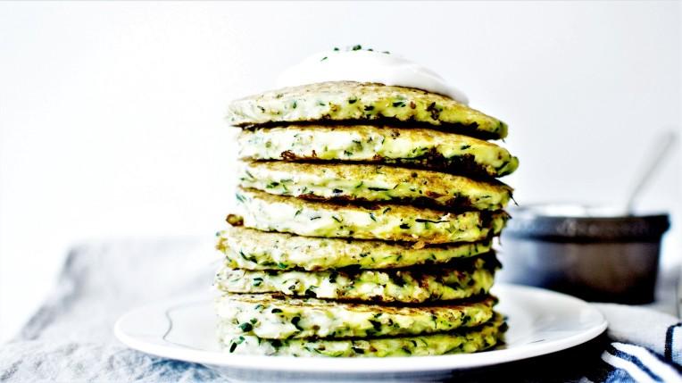 Pancakes courgette et sésame (1)
