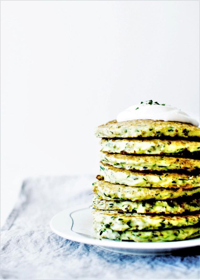 Pancakes courgette et sésame (3)