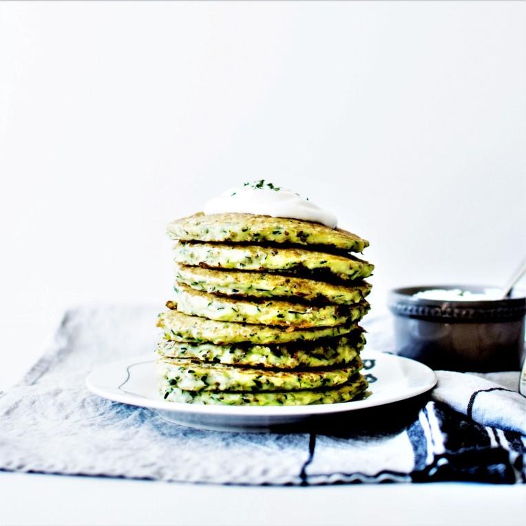 Pancakes courgette et sésame (4)