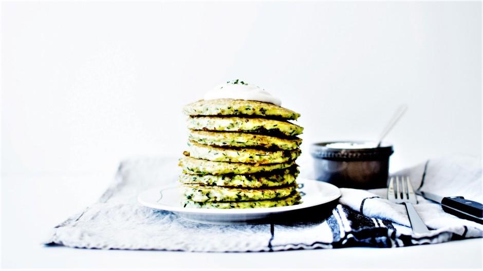 Pancakes courgette et sésame (5)