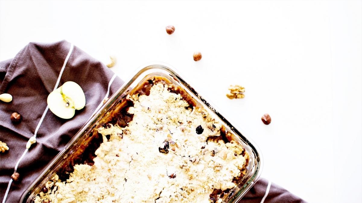 Crumble gourmand d'automne - Pommes, Crème de Marrons & Fruits secs