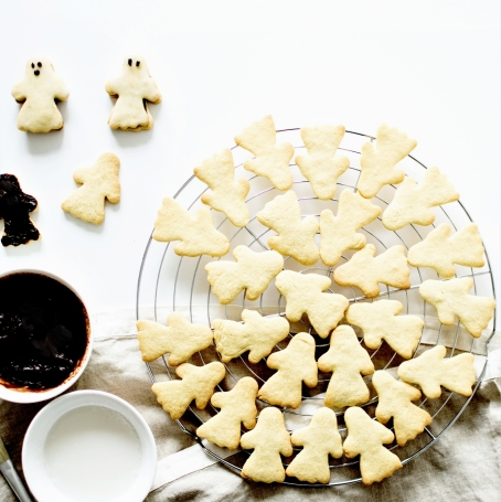 Sablés fourrés chocolat fantomes halloween (13)