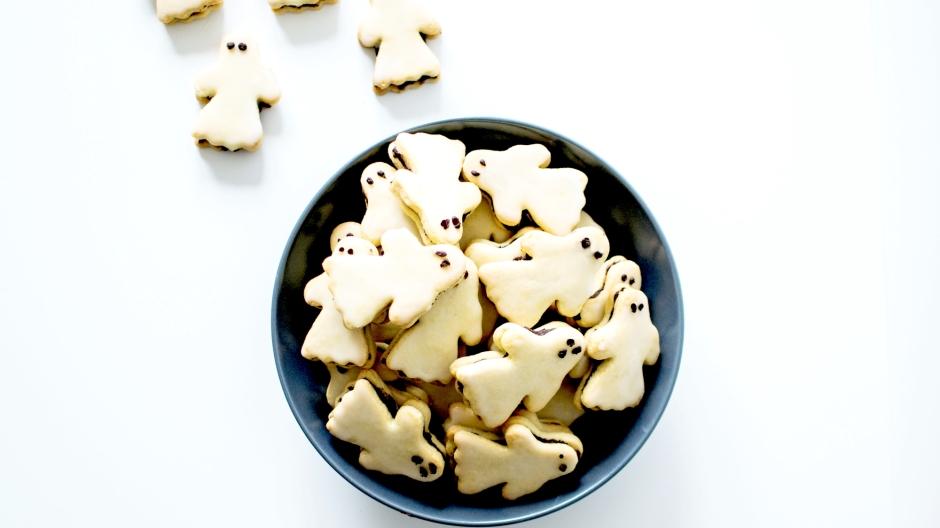 Sablés fourrés chocolat fantomes halloween (5)