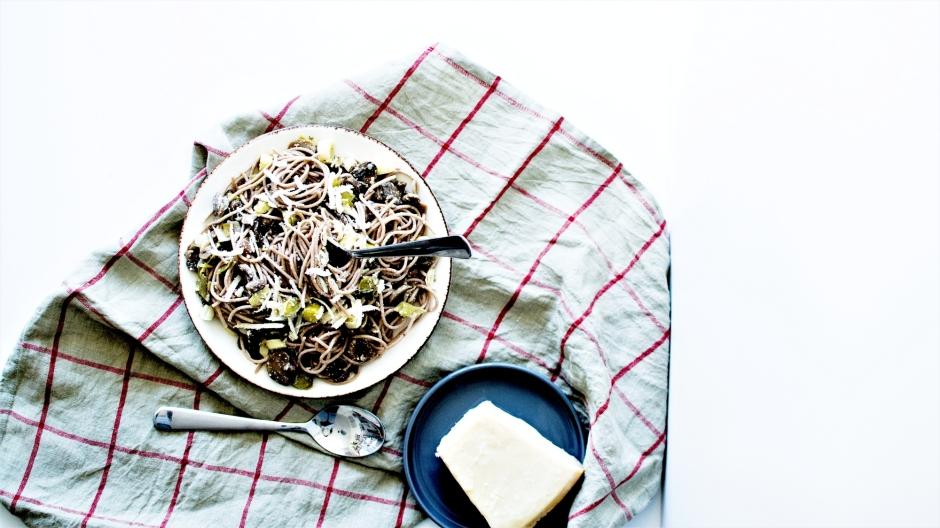 Spaghetti poireaux champignons pâtes (3)