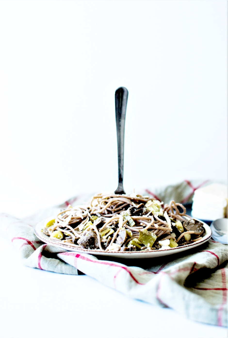 Spaghetti poireaux champignons pâtes (7)