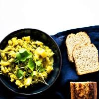 Curry de chou vert et pommes de terre
