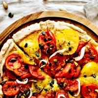 Tarte aux tomates - sur Pâte levée
