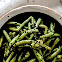 Haricots verts - Sauce soja et sésame