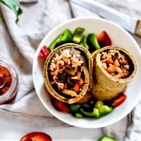 Burrito Vegan au Riz et Légumes - sans gluten