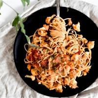 Spaghetti - chou-fleur, tomates et zaatar