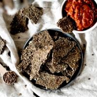 Crackers végans - Chia, lin & farine de lentilles